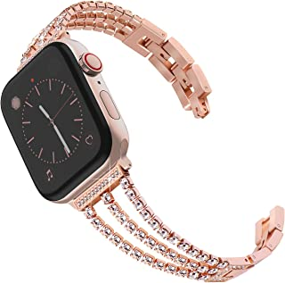 Surace Compatible for Apple Watch Bands 38mm 40mm Women Bracelet Replacement for iWatch Bands 38mm Womens Compatible for Apple Watch Band 40mm Series 4 Series 5 Rose Gold
