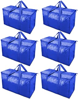 TICONN 6 Pack Extra Large Moving Bags with Zippers &...