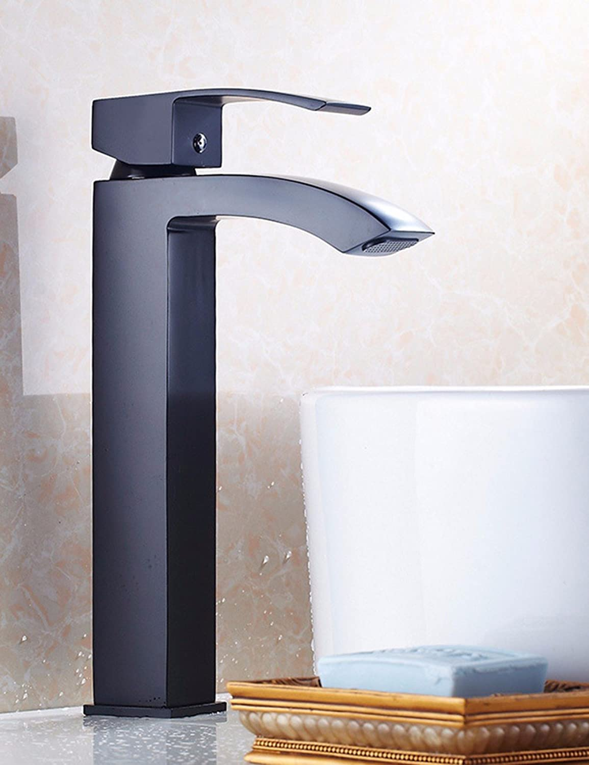 Hlluya Professional Sink Mixer Tap Kitchen Faucet High basin sickle faucet, Bathroom Washbasin Faucet, hot & cold water faucet