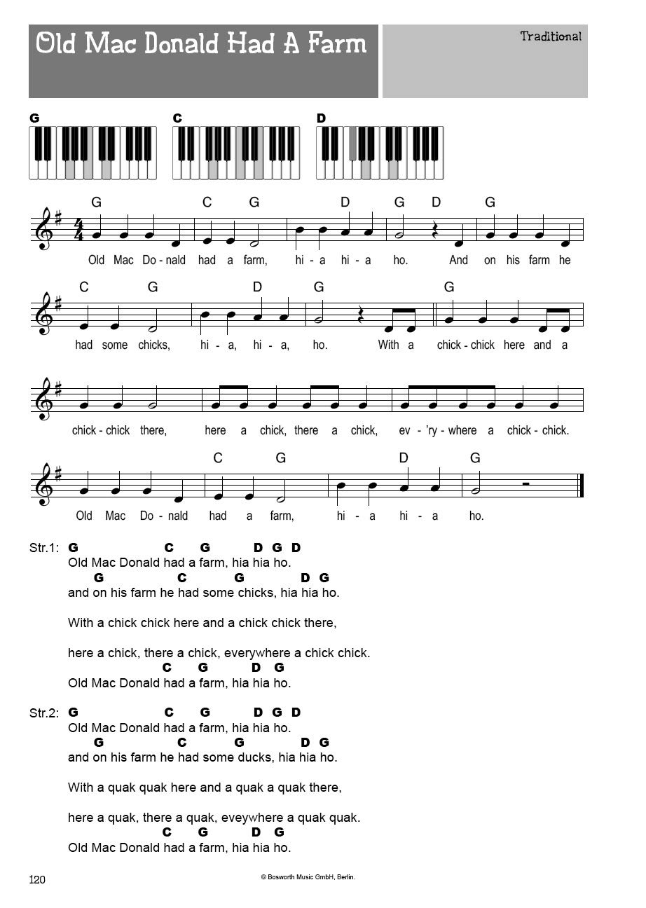 100 canciones infantiles para teclado, melodías populares a Hits ...