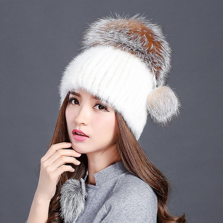 LJY hat TDD7TDD Herbst und Winter Hut Damen Outdoor warme Reitkappe