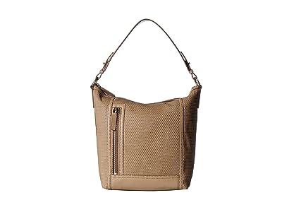 Frye Lena Perf Hobo (Taupe) Handbags