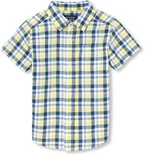 The Children's Place Baby Boys Printed Short Sleeve Button Down