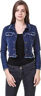 G.S.A ENTERPRISES Denim Solid Dark Blue 3/4 Sleeves Regular Collar Women Jacket