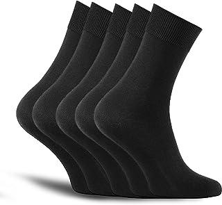 MB52 Calcetines de hombre - calidad de marca - algodón de alta calidad - para el trabajo y el ocio (5 pares) o (43-46, negro)
