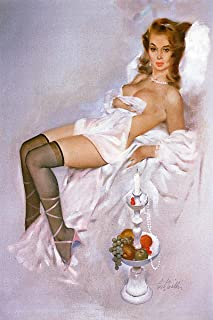 Artist Fritz Willis Vintage Classic Pin Up Girl Poster Print Untitled 4-11x17