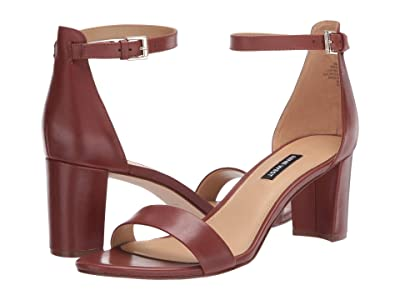 Nine West Pruce Block Heeled Sandal (Rich Coffee) Women