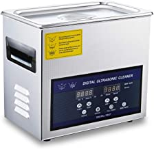 Ultrasonic Jewelry Cleaner 28/40khz Dual Frequency Cleaner 304 Stainless Steel Digital Lab Ultrasonic Cleaners for Watch Glasses Circuit Board Small Parts Instrument 3L
