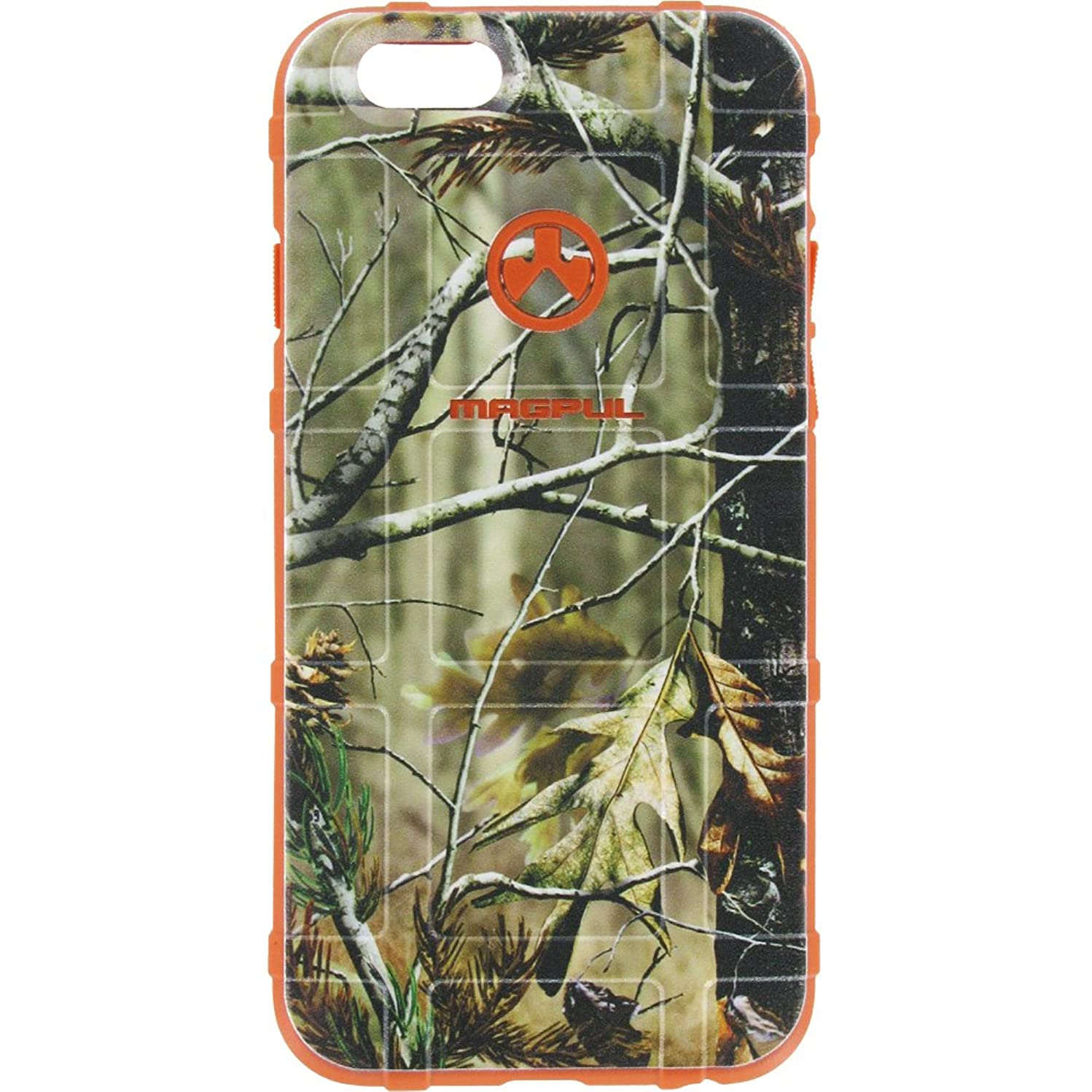 EGO Tactical Limited Edition Design UV-Printed onto a MAG849 Field Case Compatible with Apple iPhone 7 + Plus, 8 + Plus, 7+, 8+ Real Tree, Over Orange