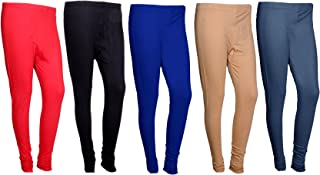 IndiWeaves Womens Premium Cotton Ankle Length Leggings_Multicolor_Size-Free_7102631343947-IW-P5-Free