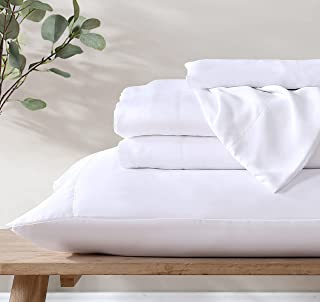 Ethos Natura 100% Eucalyptus Certified Tencel Lyocell Sateen Sheet Set, 400 Thread Count, Silky Smooth Cooling Sheets for ...