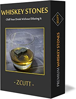 Premium Whiskey Stones (Set of 9). 100% Pure Soapstone -- Includes Carrying