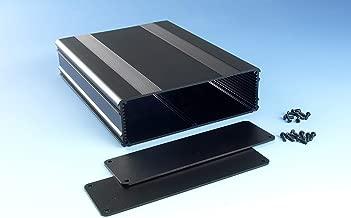 B4-220BK: Black Anodized, Extruded Aluminum Electronic Enclosure Project Box Electronic DIY Case, size 8.66