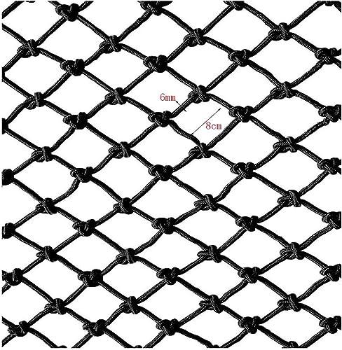 Filet De Corde Noir, Filet Résistant à La Rupture D'escalier Filet De Prougeection D'enfant Filet De Sécurité Maternelle Décoration De Filet D'enfant Net Filet Tissé à La Main Net 2x3m4m ( Taille   17m )