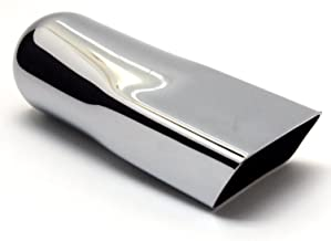 Exhaust Tip Chrome Plated 2.00 X 5.00 2.5 Inlet Wesdon Exhaust Tip