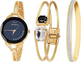 Women's Wrist Watches with Rose Gold Band Sets Women's Bangle Watch Bracelet Set