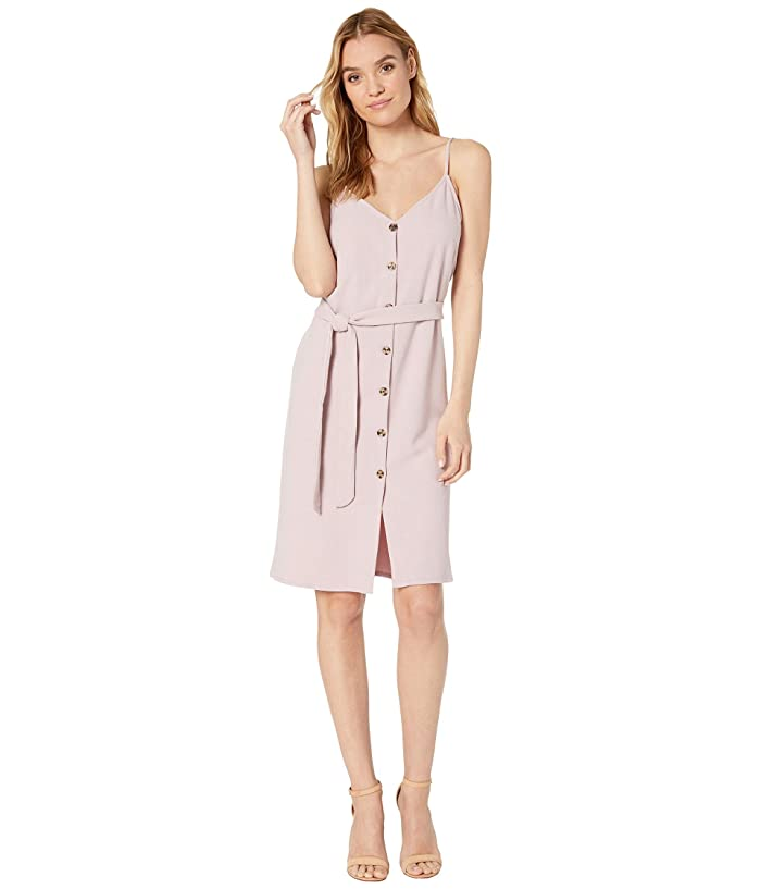 Bishop + Young Belted Button Down Dress (Lilac) Women