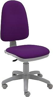 La Silla de Claudia - Silla de Escritorio giratoria Torino Gris ergonómica para Oficina y hogar con Contacto Permanente (Morado Oscuro)