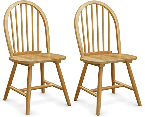 popular Giantex Wood Dining Chairs Set of 2, Windsor Chairs with Solid Wood Legs, 2021 High Spindle Back, H-Shaped Crossbars, Vintage Country Farmhouse Style Wooden 2021 Side Chairs outlet online sale