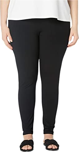 Plus Size Viscose Jersey Ankle Leggings