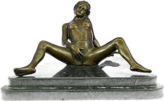 Handmade European Bronze Sculpture Original Signed Provocative Nude Seductress Art Bronze Statue -1X-DS-298-Decor Collectible Gift