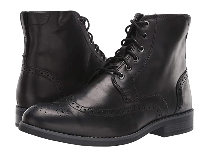 Steampunk Boots & Shoes, Heels & Flats Rockport Colden Wing Tip Black Mens Shoes $84.95 AT vintagedancer.com