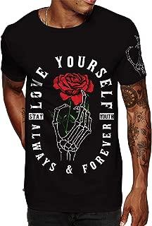 Hip Hop Graphic T-Shirt - Urban Vintage Street wear Hipster Floral Print, Flower Print Streetwear Graphic t Shirts