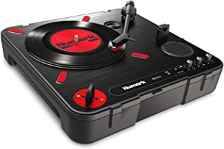 Numark PT01 Scratch | DJ Turntable for Portablists With User Replaceable Scratch Switch, Built In Speaker, Power via Battery or AC Adapter, Three Speed RPM Selection & USB Connectivity (Renewed)