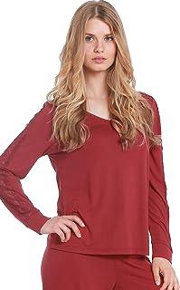 Jones New York Women's Sleepwear Pajama Top Nightwear Soft Comfortable PJ Nightshirt
