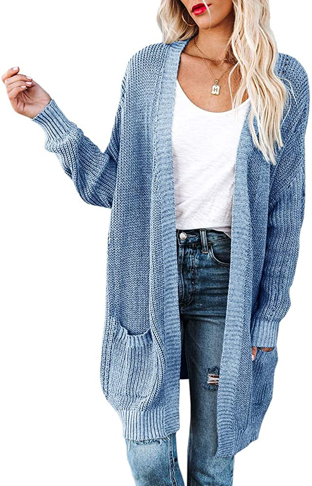 Womens Max 70% OFF Plus Size Chunky Knit Sweaters Quality inspection Long Sleeve Car Front Open