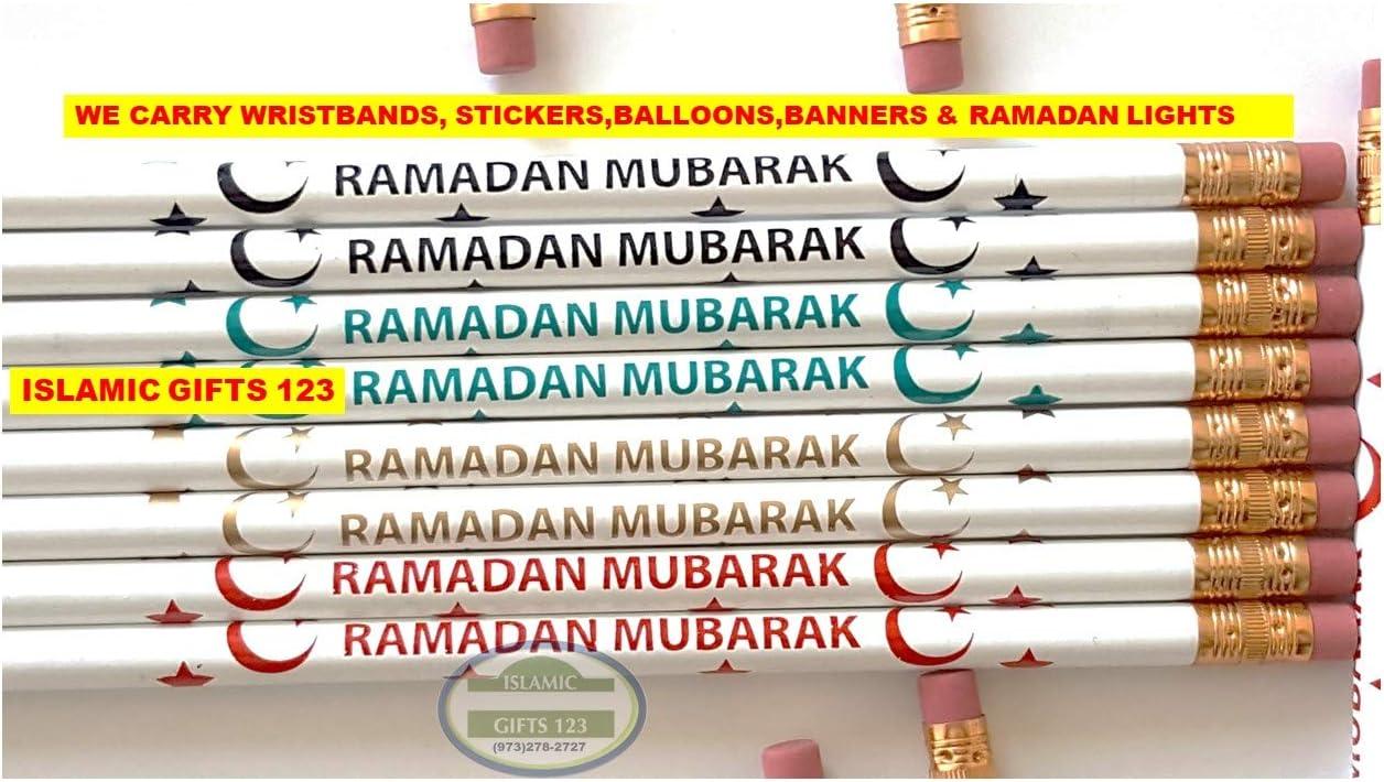 Ramadan Novelty Pack 96 PCS 信用 Pins + W Pencils 人気の定番 Button