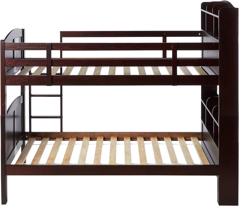 Amazon Com Coaster 460442 Co Parker Bookcase Twin Over Twin Bunk Bed Furniture Decor