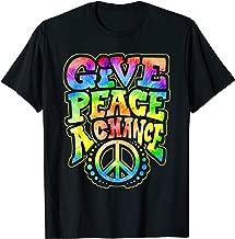 Give Peace a Chance Rainbow Tie Dye Hippie Shirt Hippy