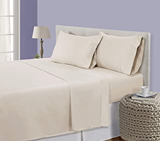 CHATEAU HOME COLLECTION Luxury 800-Thread-Count 100% Egyptian Cotton Bed Sheets, 5 Pc Split King - Cameo Sheet Set, Single Ply Long-Staple Yarns, Sateen Weave, Fits Mattress Upto 18'' Deep Pocket