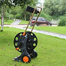 Two-Wheeled Garden Hose Cart, Maximum Rollable 60M 4-Point Water Pipe, Portable Stand-Alone Hose Reel Stand with Tool Tray - for Garden, Car Wash