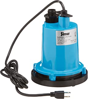 Simer 2300-04 1/4 HP Submersible Utility Pump, Geyser Classic, Heavy-duty Cast Aluminum,..