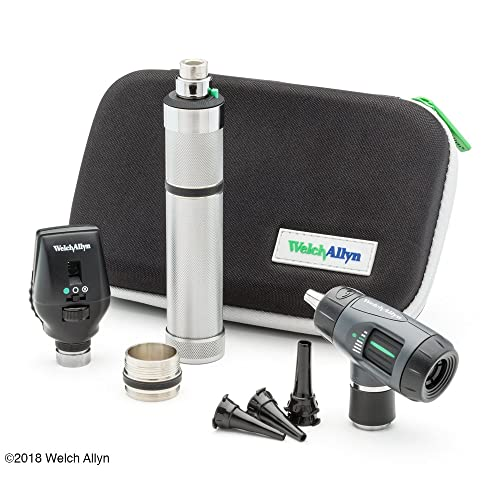Welch Allyn Standard Diagnostic Set feat. Coaxial Ophthalmoscope, MacroView Otoscope and Nickel Cadmium Rechargeable