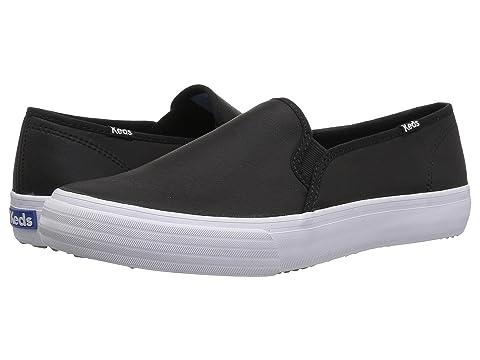 keds double decker slip on black