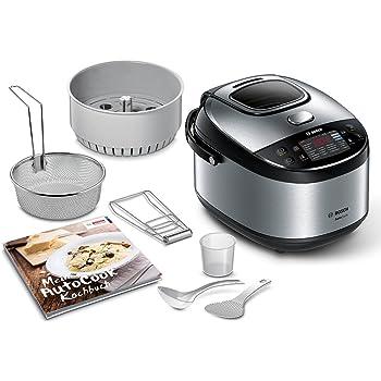 Bosch MUC28B64DE AutoCook - Versión Alemana (libro de recetas en alemán). Robot de cocina multifunción, 900 W, 5L, acero inoxidable, ajuste de temperatura de 40 – 160 C, cocción al vapor: Amazon.es: Hogar