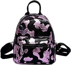 حقائب ظهر نسائية من Prosperveil بنمط Crack للفتيات من جلد البولي يوريثين بسحاب حقيبة كتف -