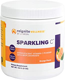 Reignite Wellness by JJ Virgin Sparkling C - Tasty Vitamin C Powder Drink Mix with Ascorbic Acid & Bioflavonoids - Antioxi...