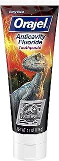 Sponsored Ad - Orajel Jurassic World Anticavity Fluoride Toothpaste- Berry Blast Flavor- Kids Toothpaste 4.2oz Tube