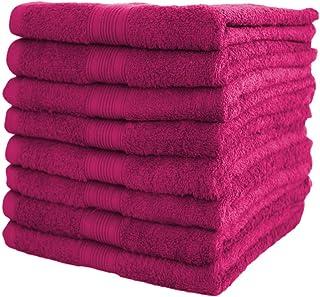 MICHETT Turban mit Knopf Mikrofaser Handtuch f/ür Kopf und Lange Haare 2 St/ück Pink Set schnelltrocknendes Handtuch 22x60 cm