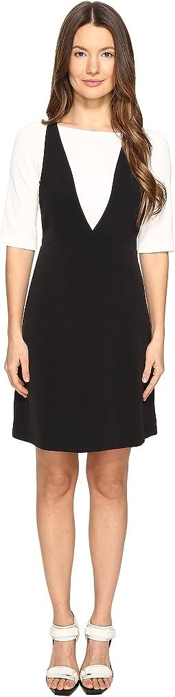 Mesh Overlay T-Shirt Dress