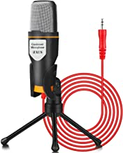 iUKUS PC Microphone with Mic Stand, Professional 3.5mm Jack Recording Condenser..