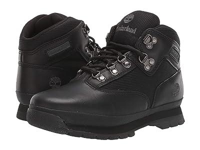 Timberland Kids Euro Hiker (Big Kid) (Black Smooth/Black) Boys Shoes