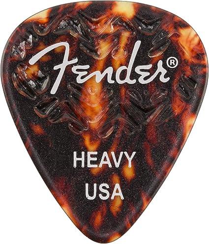 Fender Wavelength Tortoise Shell Guitar Picks 6 - 351 Shape Medium