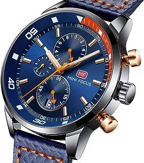 MF MINI FOCUS Mens Watch Business, Chronograph Waterproof Quartz Wrist Watches for Mens Gift