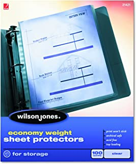 Pre-Puncehd 11 Holes Glass Clear Top Load A4 Sheet Protectors Heavyweight Keepfiling 100 per Box
