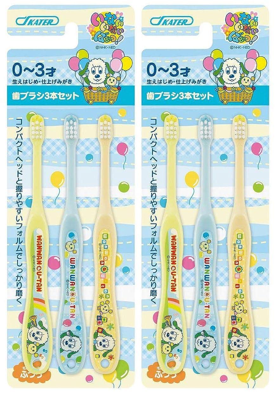 アフリカ人永久チャンススケーター 歯ブラシ 乳児用 0-3才 普通 6本セット (3本セット×2個) いないいないばあ TB4T